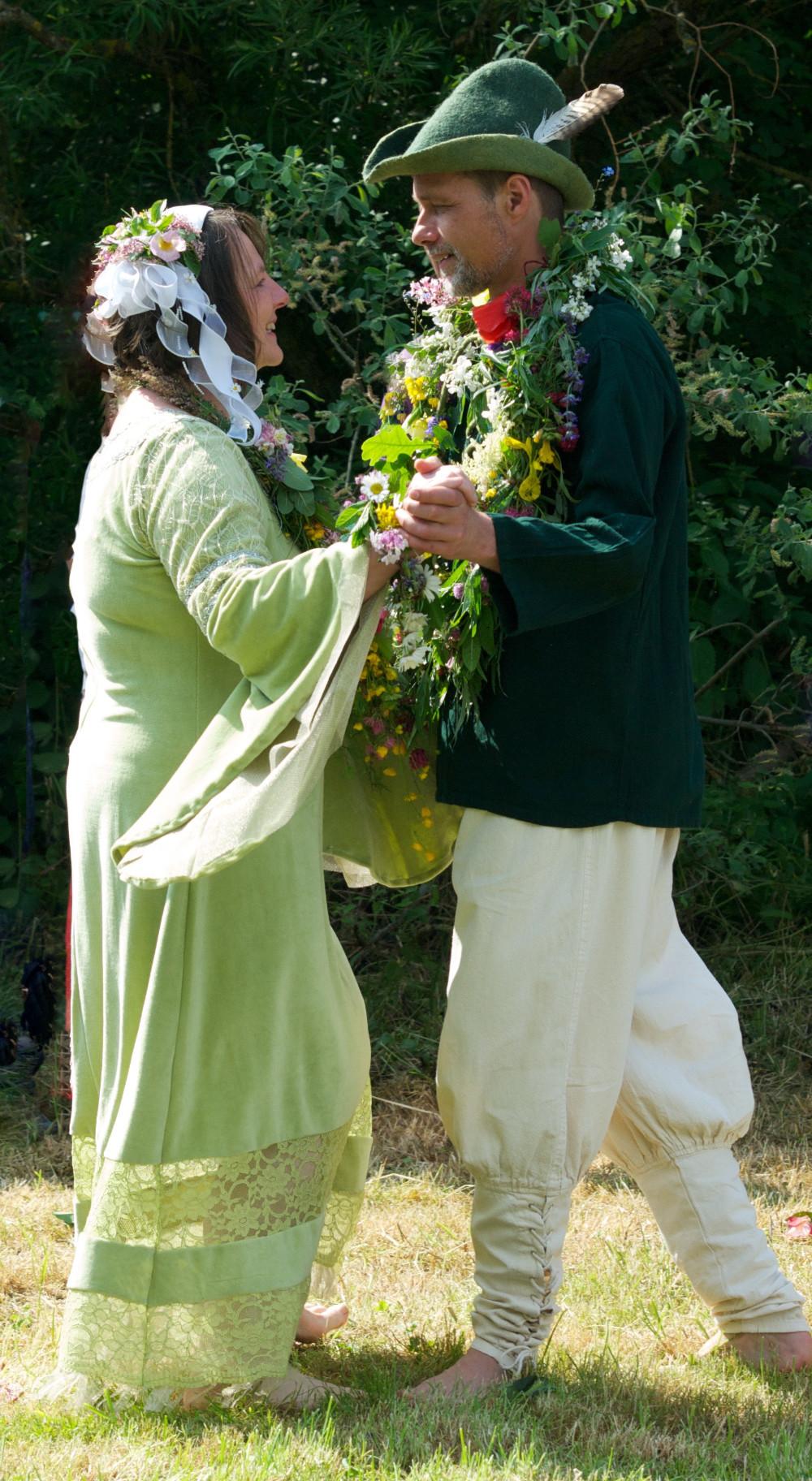 Ralf und Marina im Hochzeits - Liebestanz